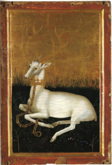 Le cerf de Richard II au revers du Diptyque Wilton (Londres, National Gallery)