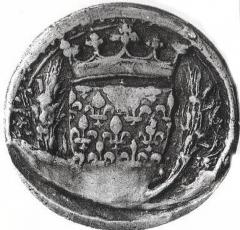 Deuxième sceau du secret de Charles VI. Base SIGILLA