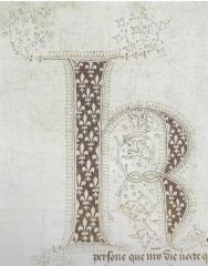 Initiale ornée d'un acte de Charles VI (Paris, AN, K53, n° 33, 1384)