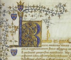 Acte de Charles VI en faveur de Louis d'Orléans. Paris, AN AE II 420, 1400.